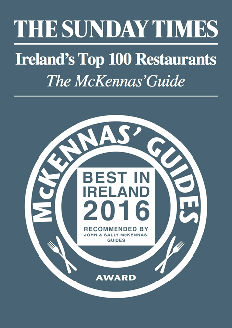 Irelands 100 Restaurants 2016 Sunday Times McKennas