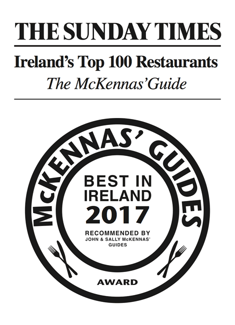 Ireland's 100 Restaurants 2017 Sunday Times McKennas