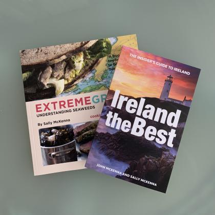 Book on Seaweed Benefits and Recipes and McKennas Travel Guide to Ireland