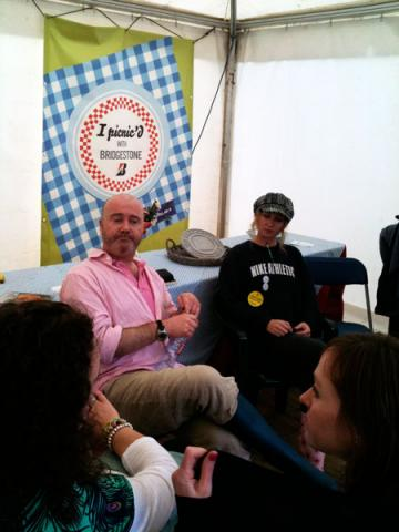 Ross Golden-Bannon and Caroline Byrne at the Bridgestone Tent Food Forum
